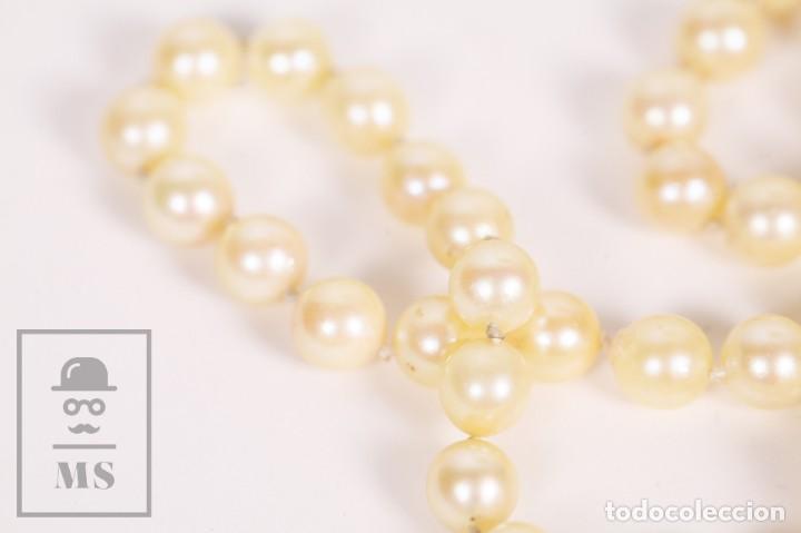 Joyeria: Precioso Collar de Perlas Cultivadas con Cierre de Oro y Cuentas de Coral Rojo - Longitud 64 cm - Foto 12 - 153193802