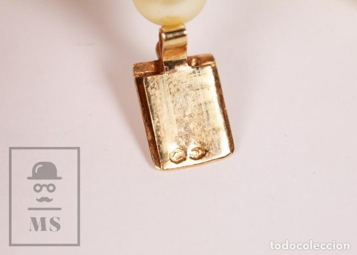 Joyeria: Precioso Collar de Perlas Cultivadas con Cierre de Oro y Cuentas de Coral Rojo - Longitud 64 cm - Foto 13 - 153193802