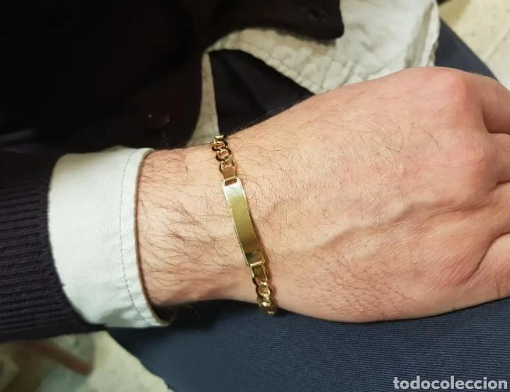 Joyeria: Pulsera de caballero No me olvides en oro amarillo de 18K - Foto 7 - 153434682