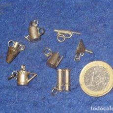 Joyeria: 7 ANTIGUOS COLGANTES ARTESANALES DE PLATA.. Lote 153483202