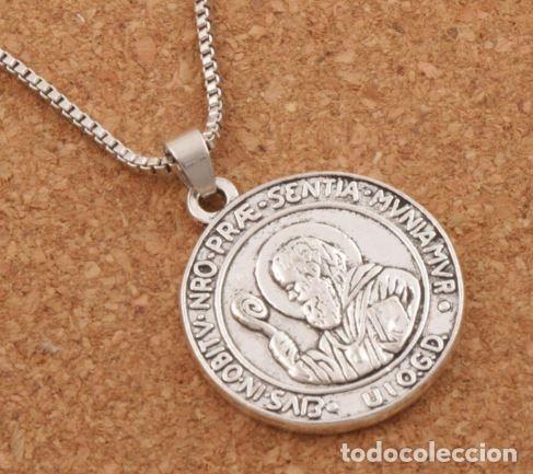 5c6ca821f2e0 Medalla redonda con cadena en plata de san beni - Vendido en Subasta ...