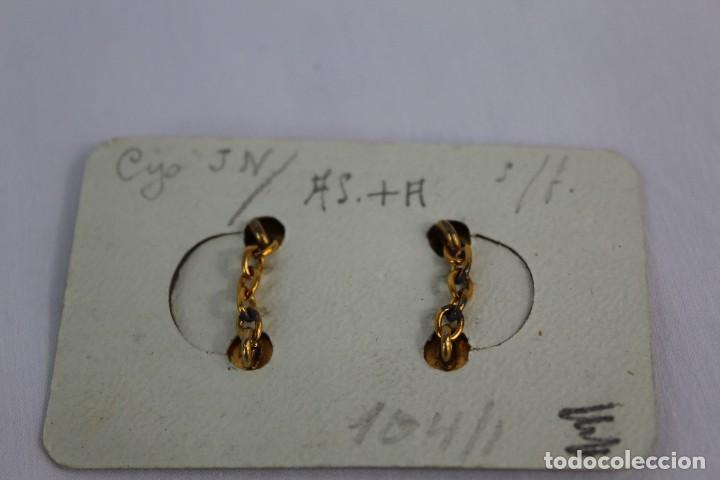 Joyeria: Gemelos antiguos damasquinados de oro de Toledo en caja sin estrenar - Foto 2 - 154122642