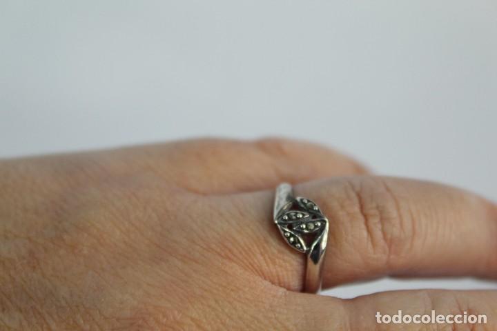 Joyeria: Anillo antiguo de plata y marcasitas - Foto 4 - 154127858