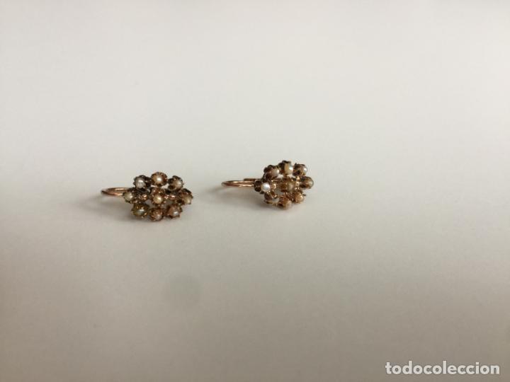 Joyeria: antiguos pendientes de oro de 14 quilates con perlas - Foto 3 - 154769410
