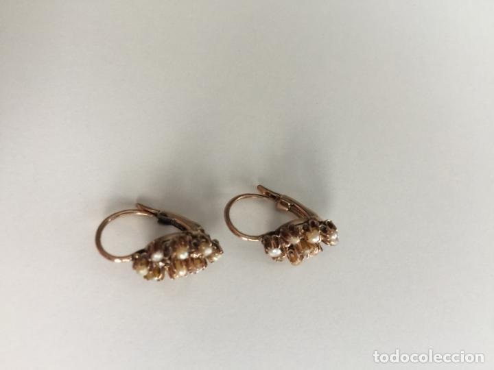 Joyeria: antiguos pendientes de oro de 14 quilates con perlas - Foto 4 - 154769410