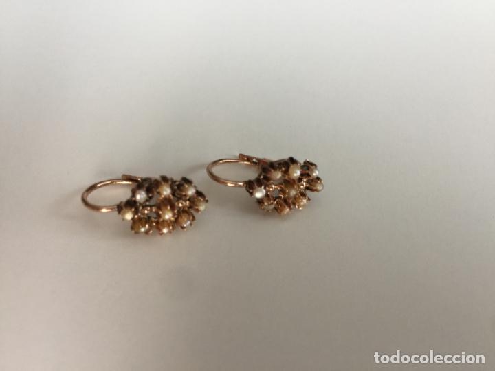 Joyeria: antiguos pendientes de oro de 14 quilates con perlas - Foto 5 - 154769410