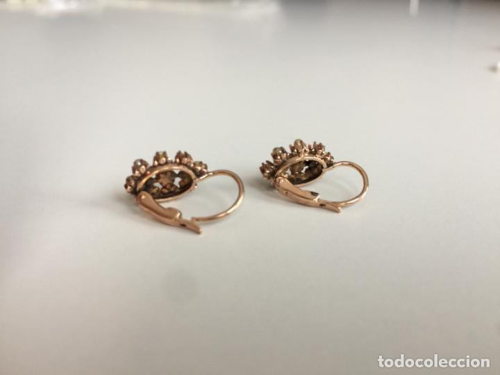 Joyeria: antiguos pendientes de oro de 14 quilates con perlas - Foto 6 - 154769410