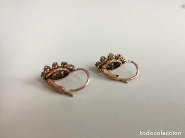 Joyeria: antiguos pendientes de oro de 14 quilates con perlas - Foto 7 - 154769410