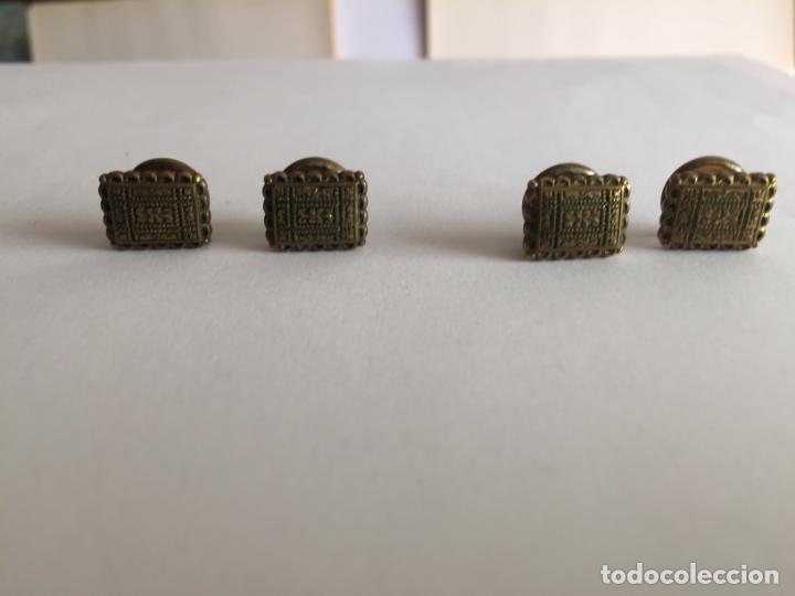 Joyeria: Antiguos GEMELOS metálicos de botón (VINTAGE, 1950-60's) Originales. Coleccionista. - Foto 2 - 154850082