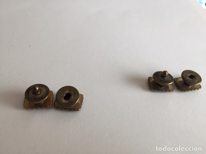 Joyeria: Antiguos GEMELOS metálicos de botón (VINTAGE, 1950-60's) Originales. Coleccionista. - Foto 3 - 154850082