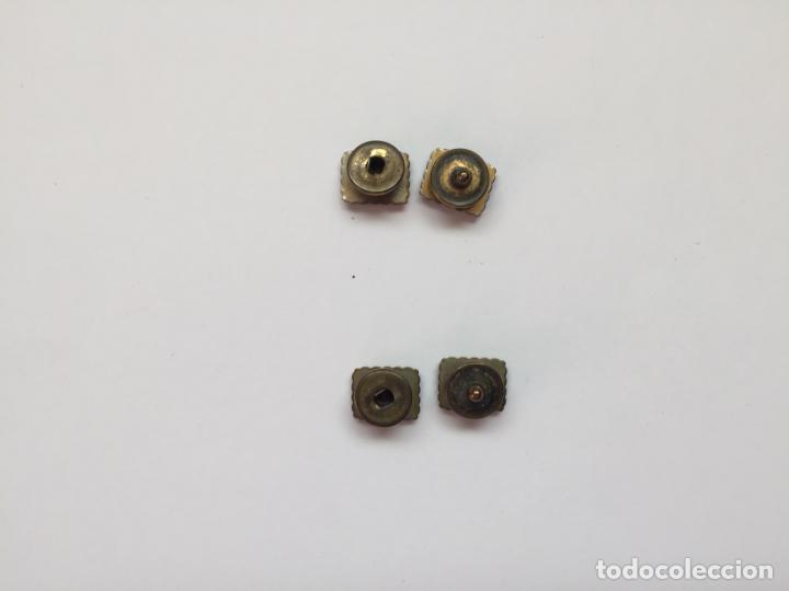 Joyeria: Antiguos GEMELOS metálicos de botón (VINTAGE, 1950-60's) Originales. Coleccionista. - Foto 5 - 154850082
