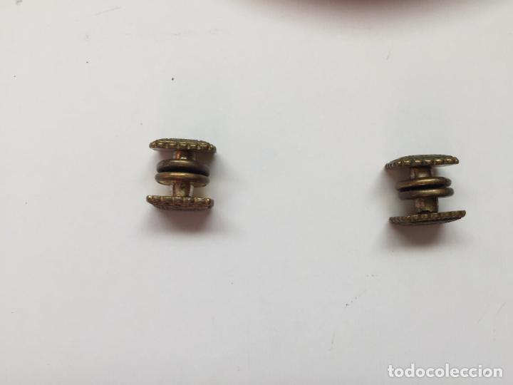 Joyeria: Antiguos GEMELOS metálicos de botón (VINTAGE, 1950-60's) Originales. Coleccionista. - Foto 6 - 154850082