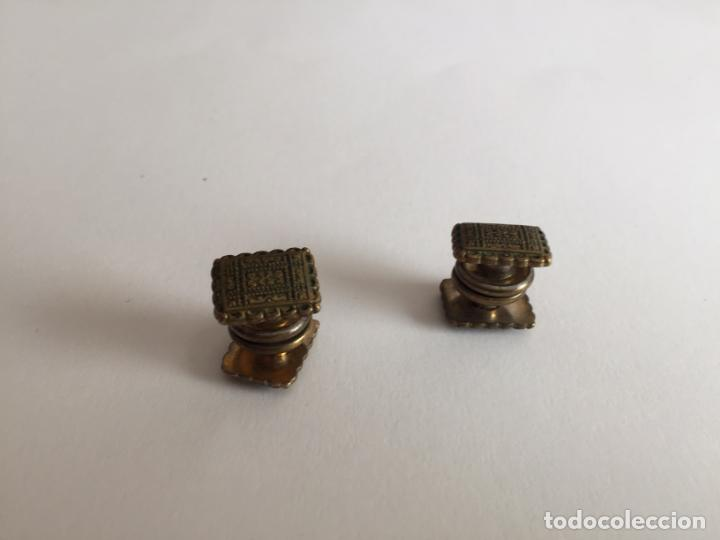 Joyeria: Antiguos GEMELOS metálicos de botón (VINTAGE, 1950-60's) Originales. Coleccionista. - Foto 7 - 154850082
