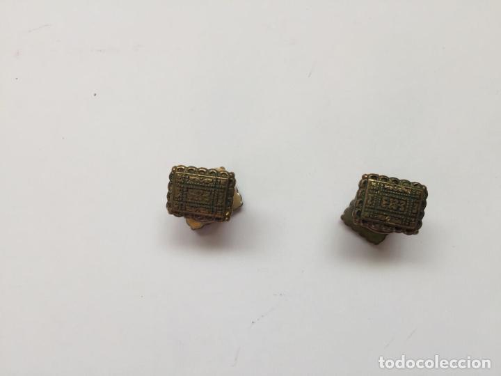 Joyeria: Antiguos GEMELOS metálicos de botón (VINTAGE, 1950-60's) Originales. Coleccionista. - Foto 8 - 154850082