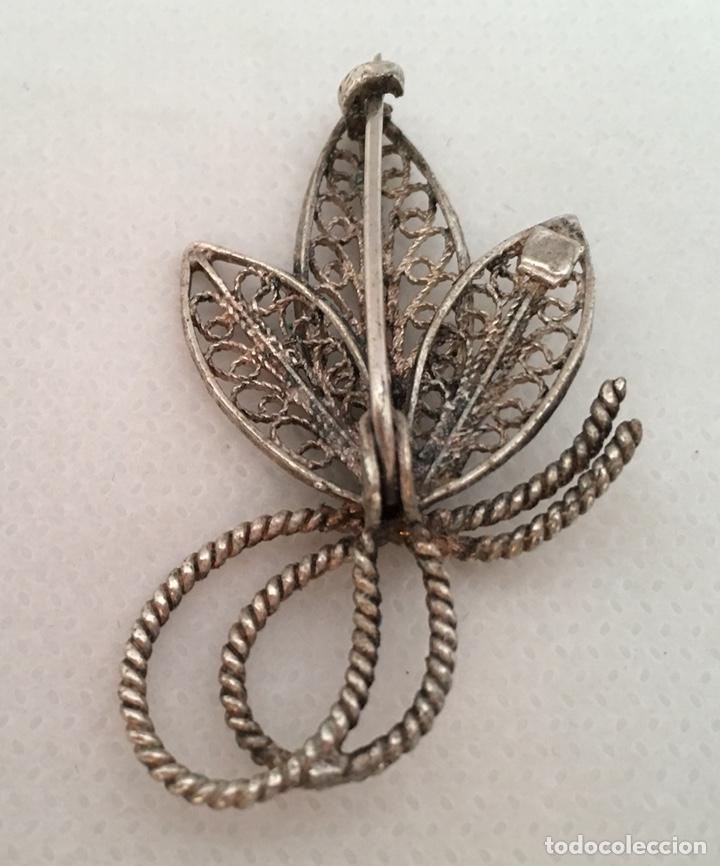 Joyeria: Broche de filigrana de plata antiguo - Foto 2 - 155035426