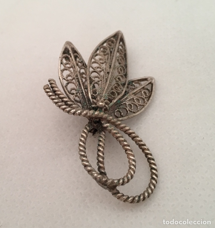 Joyeria: Broche de filigrana de plata antiguo - Foto 3 - 155035426