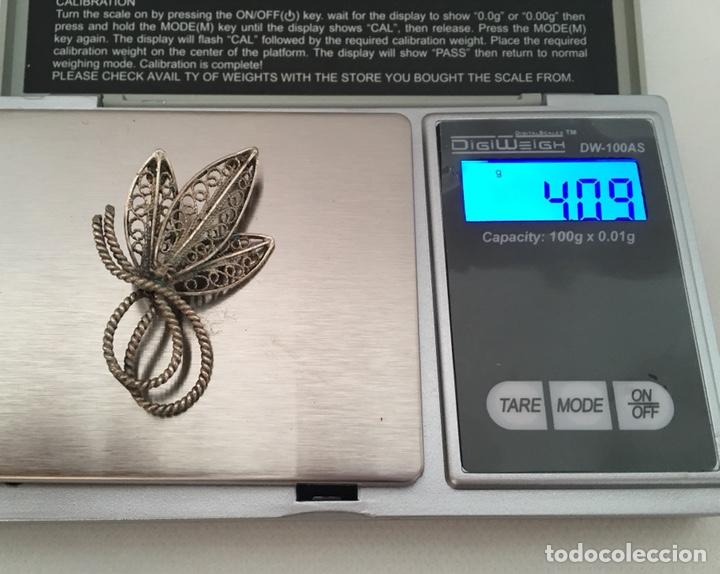 Joyeria: Broche de filigrana de plata antiguo - Foto 4 - 155035426
