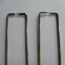 Joyeria: PENDIENTES DE PLATA. RECTANGULARES (6 X 2 CM). Lote 155107602