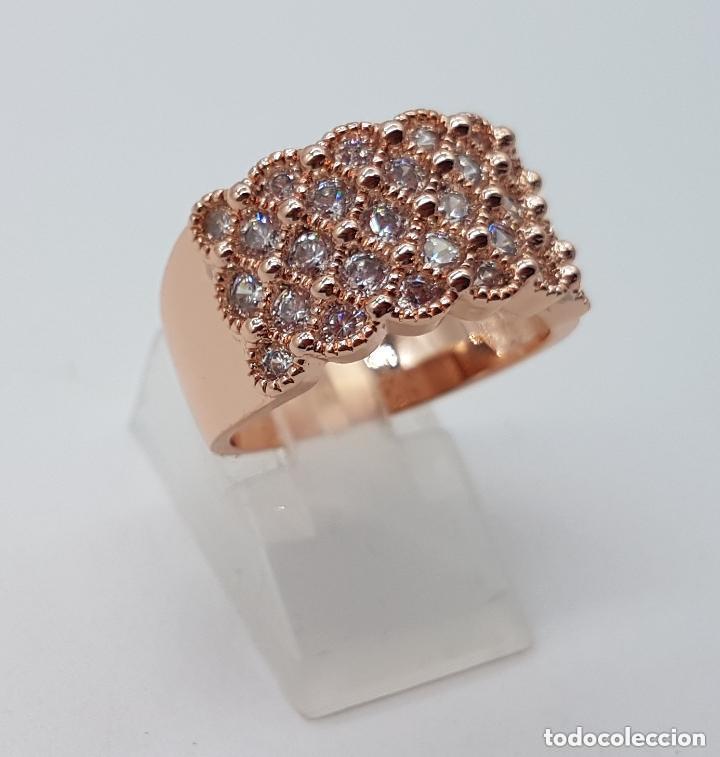 Joyeria: Precioso anillo chapado en oro de 18 quilates con pave de circonita engarzadas. - Foto 2 - 155239306