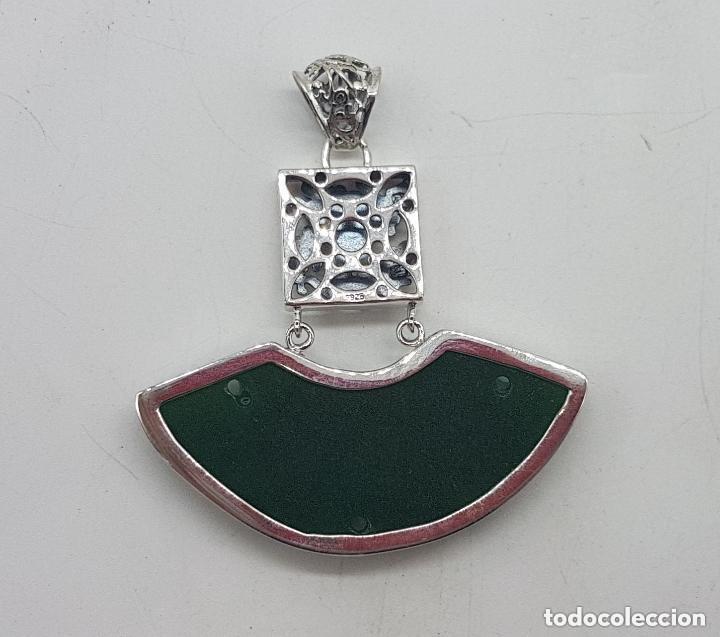 Joyeria: Espectacular gran colgante chino de plata 925 con jade bellamente tallado. - Foto 8 - 155240918