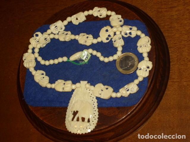 COLLAR DE HUESO TALLADO (Joyería - Collares Antiguos)