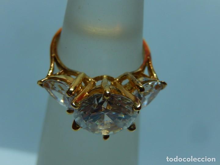 8ebe96ee22f3 anillo de plata dorada y circonitas. - Comprar Anillos Antiguos en ...