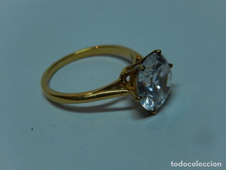 224b7832bfcd anillo de plata dorada y circonita. - Comprar Anillos Antiguos en ...