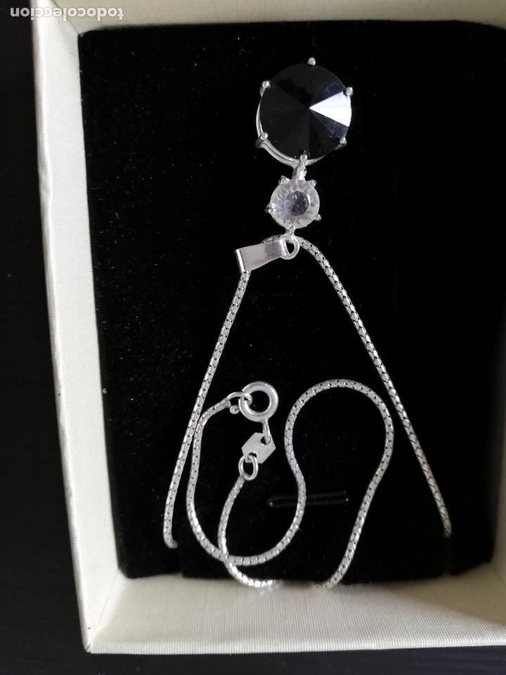 c561f13b3557 collar de plata con colgante tipo zafiro - Comprar Collares Antiguos ...
