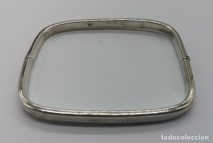 Joyeria: Brazalete antiguo en plata de ley contrastada de forma rectangular . - Foto 5 - 156666110