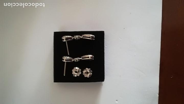 Joyeria: Pendientes Vintage ,oro blanco y diamantes - Foto 4 - 115618359