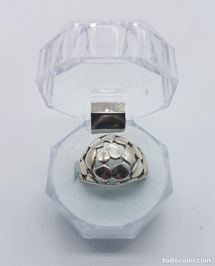 Joyeria: Anillo antiguo de plata de ley contrastada de estilo modernista. - Foto 5 - 158370386