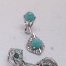 Schmuck - Pendientes de plata y turquesas - 158384318