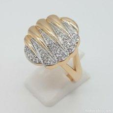Jewelry - Elegante anillo de lujo con acabado en oro de 18k, y pavé de circonitas talla brillante . - 158824322