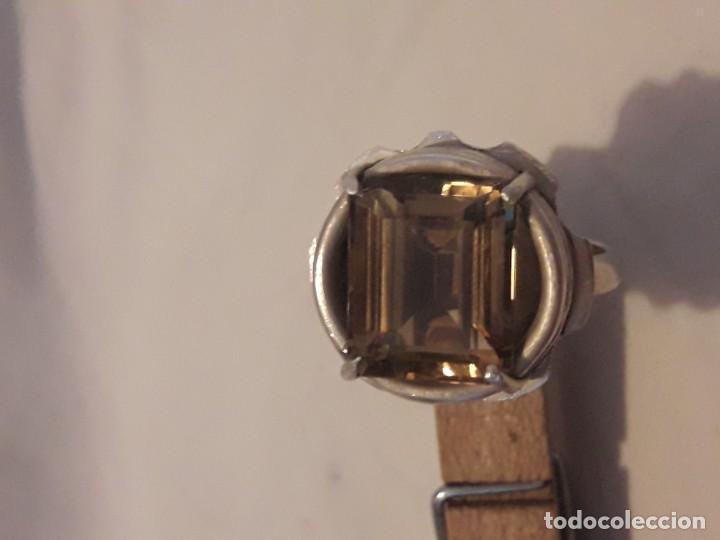 Joyeria: Precioso anillo plata 925 contrastada y gema de cuarzo ahumado talla esmeralda - Foto 12 - 158827118