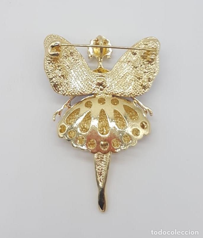 Joyeria: Precioso broche de hada articulada con acabado en oro, esmaltes y pedrería . - Foto 5 - 172658160