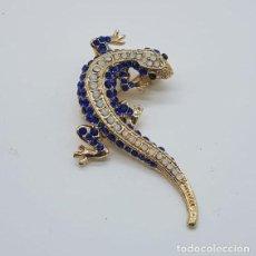 Jewelry - Original broche de estilo art decó con acabado en oro, y pavé de cristal austriaco talla brillante . - 158835734