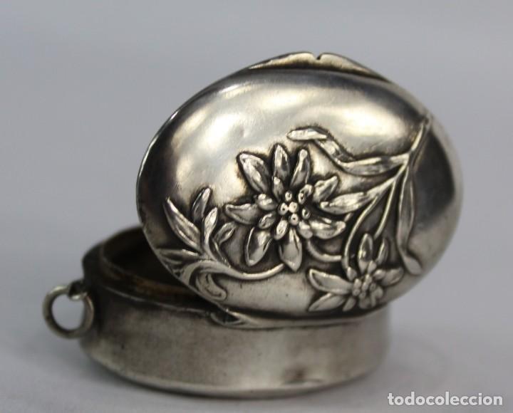 Joyeria: Guardapelo de plata colgante secreter plata 800 fines s XIX Art Nouveau - Foto 2 - 159017814