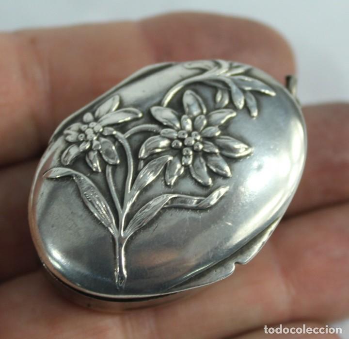Joyeria: Guardapelo de plata colgante secreter plata 800 fines s XIX Art Nouveau - Foto 6 - 159017814