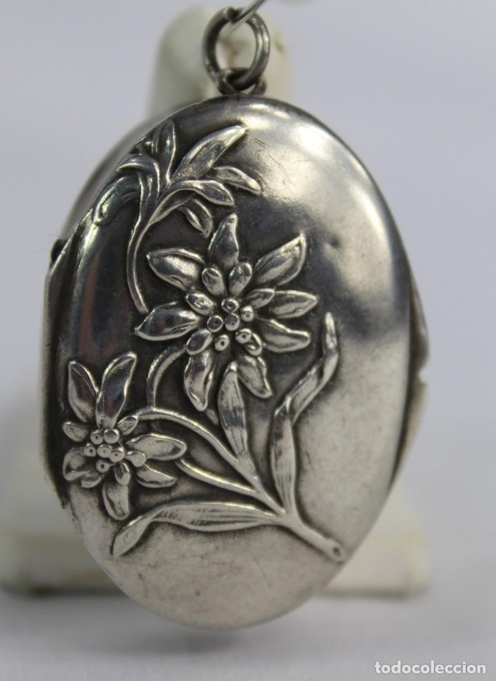 Joyeria: Guardapelo de plata colgante secreter plata 800 fines s XIX Art Nouveau - Foto 7 - 159017814