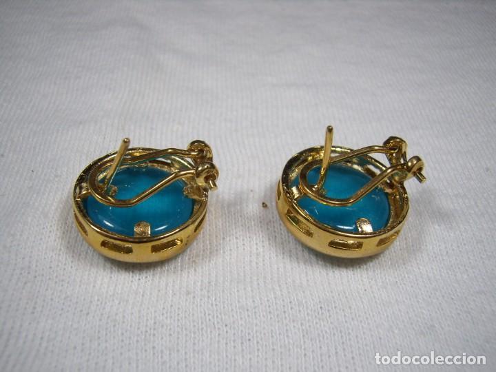 Joyeria: Pendientes chapado oro, 18 Kt, fabricado en España, años 80, cierre omega, Nuevo sin usar. - Foto 3 - 159100038