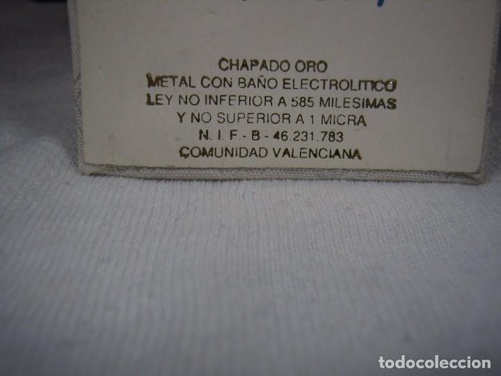 Joyeria: Pendientes chapado oro, 18 Kt, circonios, perla, rodiado, años 80, cierre omega, Nuevo sin usar. - Foto 9 - 159205286