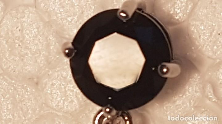 Joyeria: Conjunto en plata 925 formado por colgante, cadena y pendientes con piedras talla diamante - Foto 6 - 159341426
