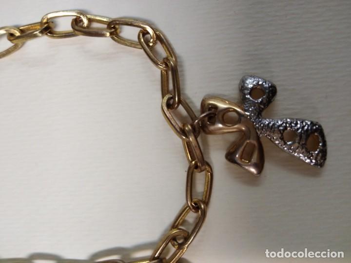 Joyeria: Pulsera dorada con tres cruces - Foto 2 - 159499118