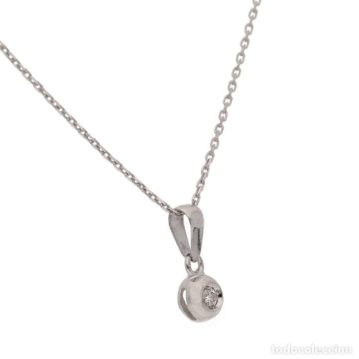 Joyeria: Collar y Colgante con Diamante Central y Oro de Ley 18k - Foto 3 - 159556662