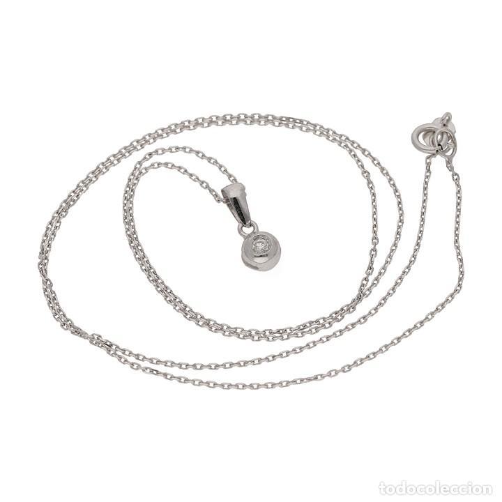 Joyeria: Collar y Colgante con Diamante Central y Oro de Ley 18k - Foto 4 - 159556662
