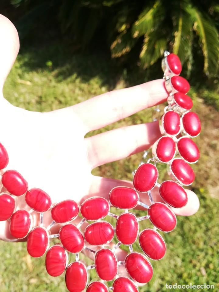 Joyeria: Collar de coral rojo italiano y plata - Foto 2 - 159634466