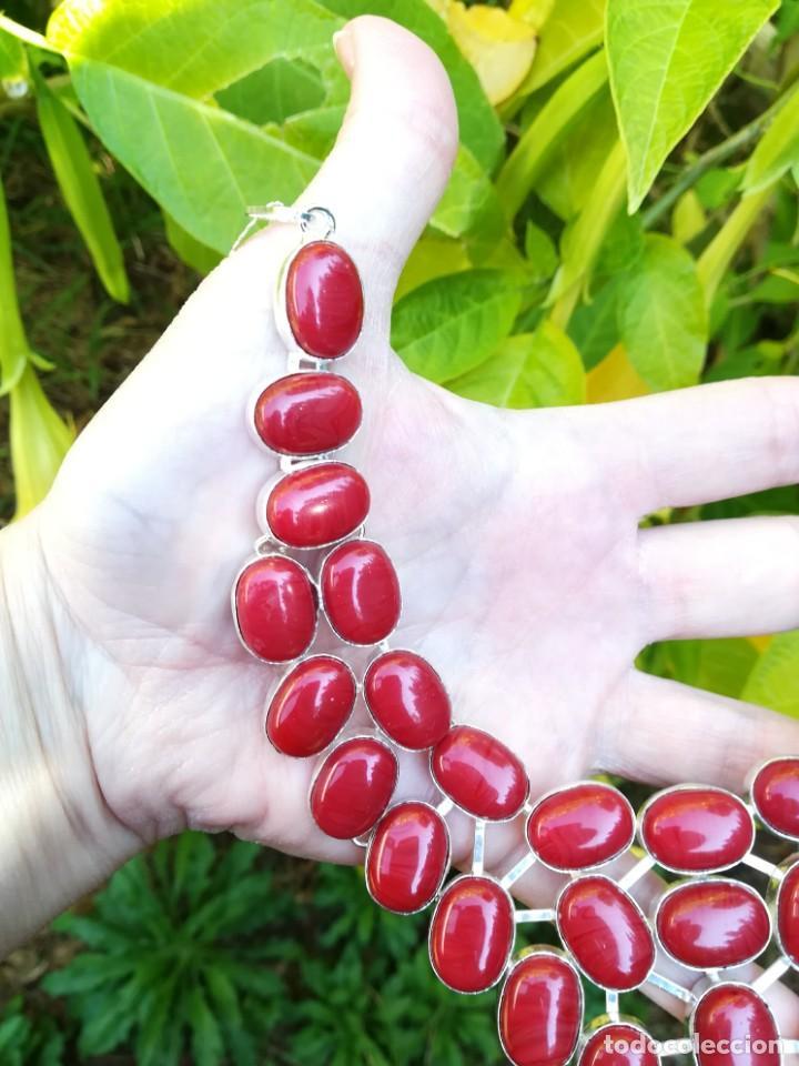 Joyeria: Collar de coral rojo italiano y plata - Foto 6 - 159634466