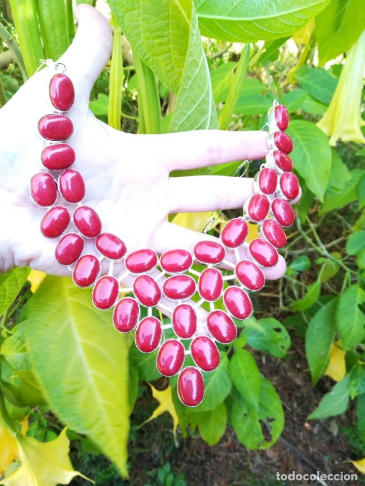 Joyeria: Collar de coral rojo italiano y plata - Foto 7 - 159634466