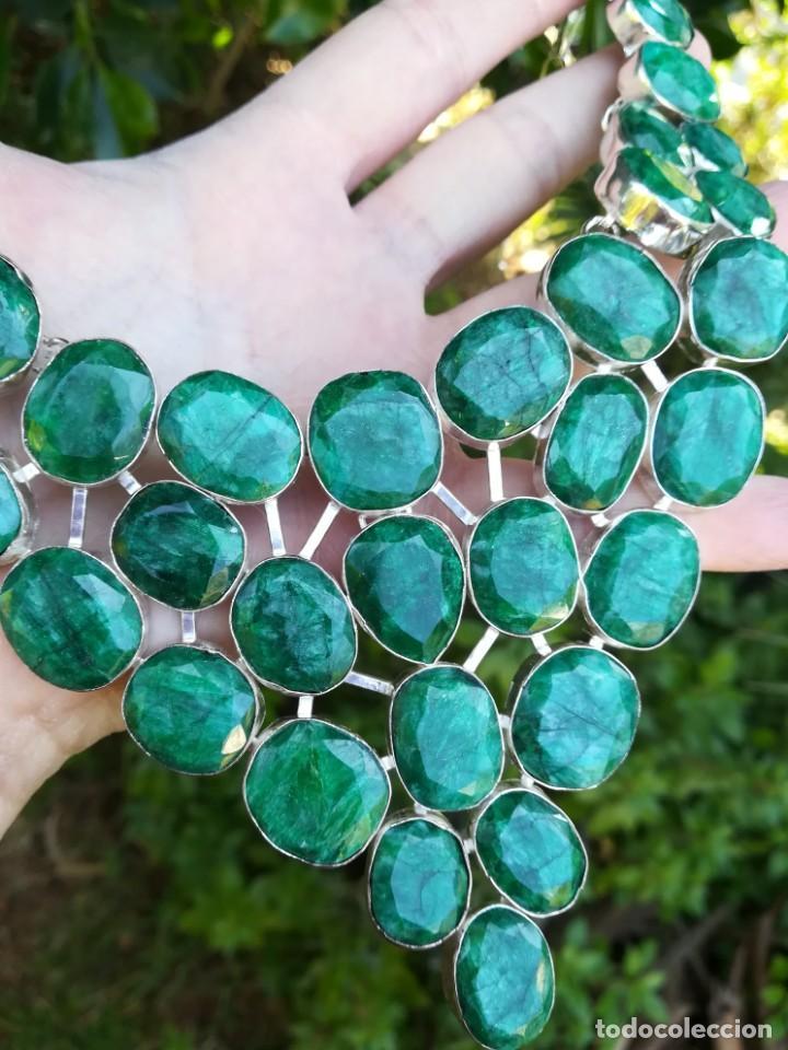 Joyeria: Collar de esmeraldas brasileñas y plata - Foto 2 - 159642178