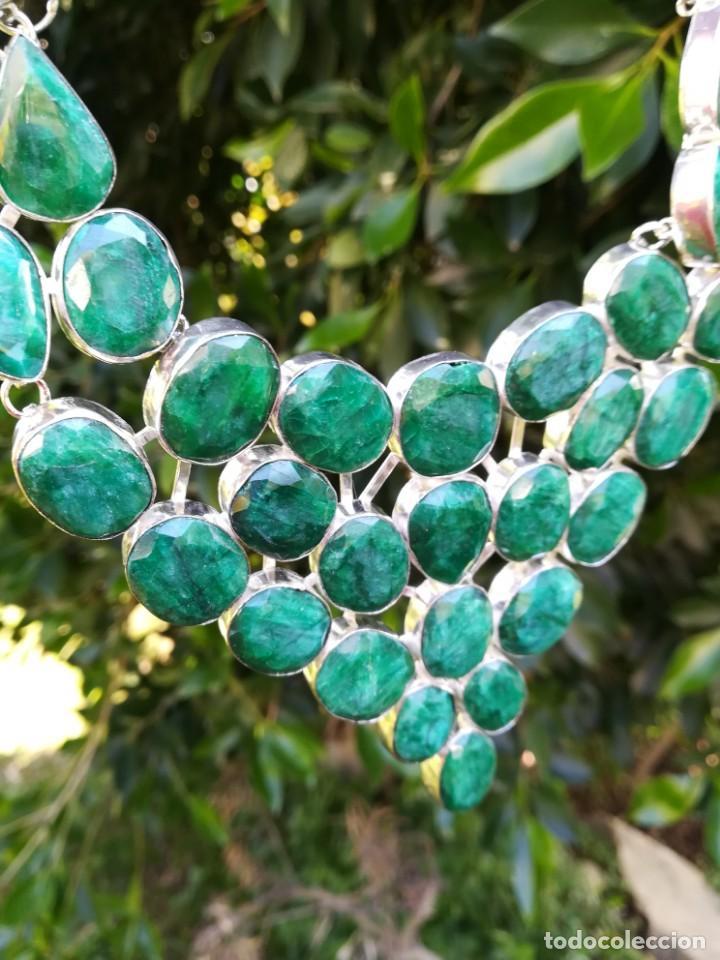 Joyeria: Collar de esmeraldas brasileñas y plata - Foto 5 - 159642178